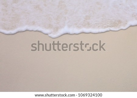 background of wave on a sand #1069324100