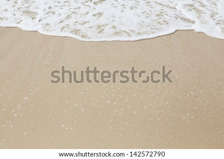 background of  wave on the sand