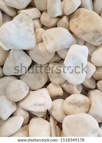 Background of white stones of medium size