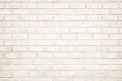 Background of wide cream brick wall texture. Old brown brick wall concrete or stone wall textured, wallpaper limestone abstract flooring/Grid uneven interior rock. Home or office design backdrop.