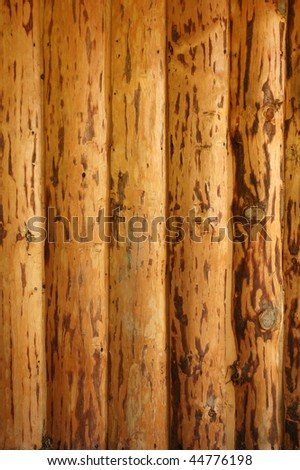 Background of wood cut by old traditional technology.