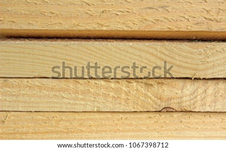 Background of wood planks, sectional view. #1067398712