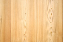 Background of wooden board with fresh clean saw cut, texture close-up