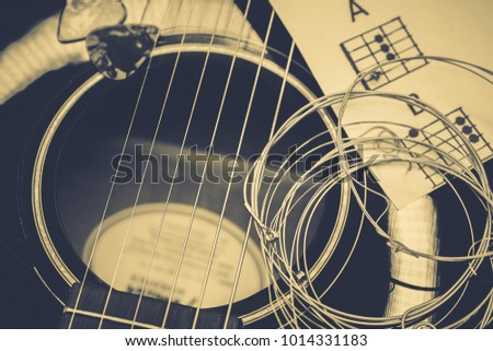 Background On a theme guitar #1014331183