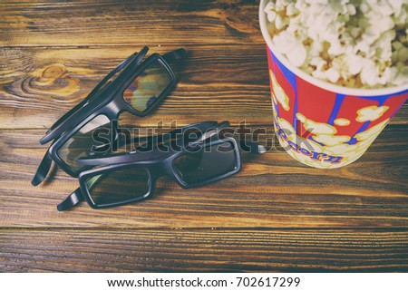 Background on the theme of cinema and popcorn