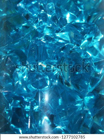 Background or texture, shiny blue glass crystals.  #1277102785