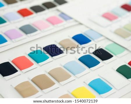 Background pantone color fabric swatches designer.