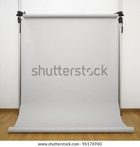 Background paper in photo studio