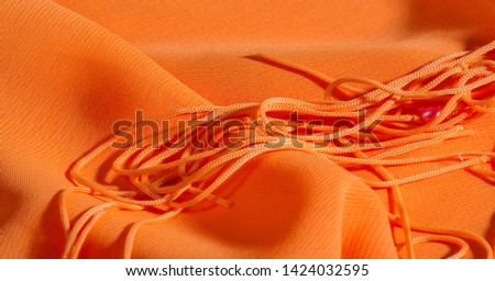 background, pattern, texture, Orange silk fabric has a brilliant luster. It folds into soft folds when draping and is the most versatile fabric. Be creative with beautiful accents of your design. #1424032595