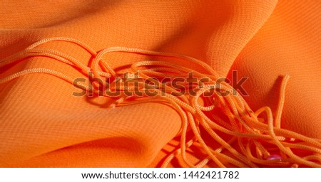 background, pattern, texture, Orange silk fabric has a brilliant luster. It folds into soft folds when draping and is the most versatile fabric. Be creative with beautiful accents of your design. #1442421782