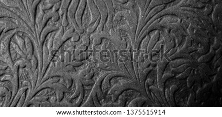 Background patterned on a tree. Thread patterns. Ornament patterns. #1375515914