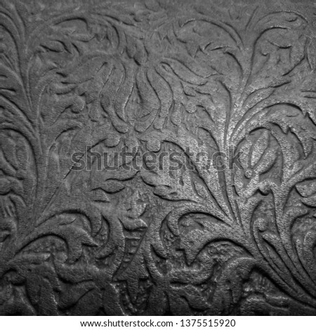 Background patterned on a tree. Thread patterns. Ornament patterns. #1375515920