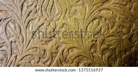 Background patterned on a tree. Thread patterns. Ornament patterns. #1375516937