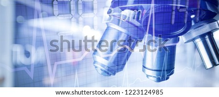 Background pharmaceutical research scientific banner abstract biotech