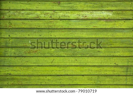 Background picture made of old green wood boards