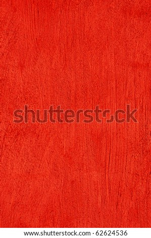 Background plastered wall in red
