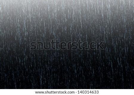Background rain in night light
