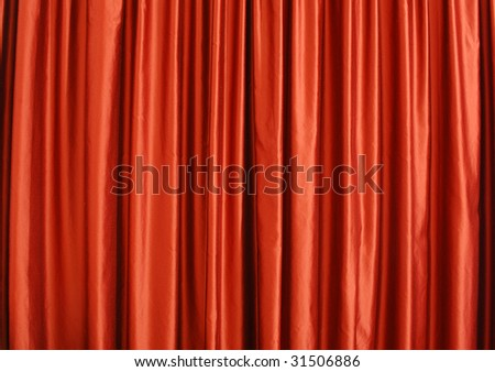 Background red curtains as in theater