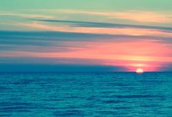 Background sea pastel evening sunset sunrise