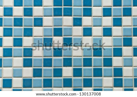 Background series : Blue tile wall