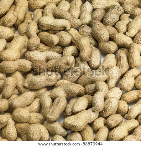 background showing lots of peanuts with paring