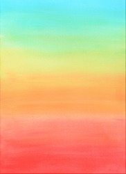 background sky watercolor blue yellow red