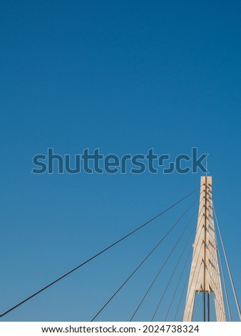 Background sky with modernist construction of a bridge Foto stock ©