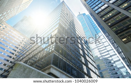 Background skyscrapers in city #1040026009
