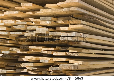 Background. Stack of wooden boards.