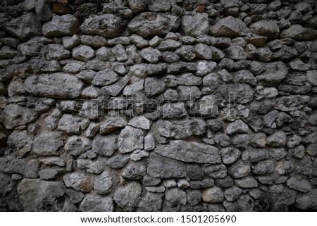 background stones stone wall large gray stones #1501205690