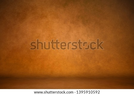 Background studio portrait backdrops brown canvas background on the wall and on the floor with a soft transition. #1395910592