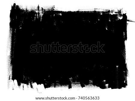 Background. Template, frame, old style vintage design. Graphic illustration. Black and white grungy textured background with attrition, cracks and ambrosia