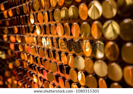 background texture abstraction holiday party yellow gold round bokeh #1080315305