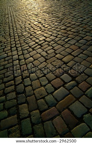 background texture berlin cobblestone road