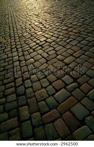 background texture berlin cobblestone road