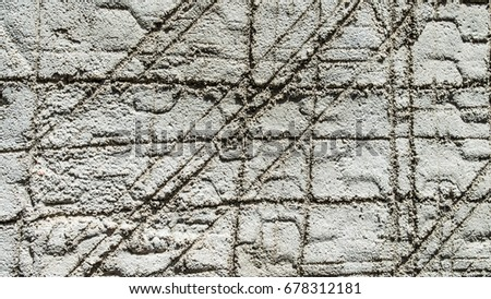 background texture design etched in cement #678312181