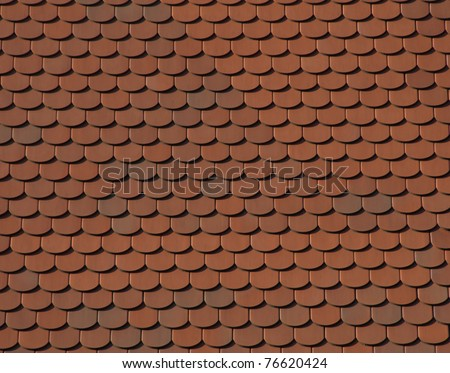 Background Texture. Detail of a roof: Tile Pattern