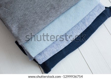 background texture fabric Angora. the fabric is knit. fabric Angora. fabric two blue #1299936754
