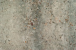 background, texture - gray rough concrete wall with colored stones of aggregate