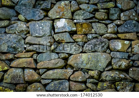 Background Texture Of An Ancient Rustic Stone Wall