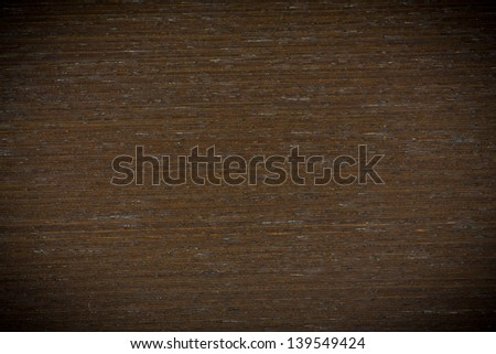 Background texture of brown wood closeup with vignette #139549424