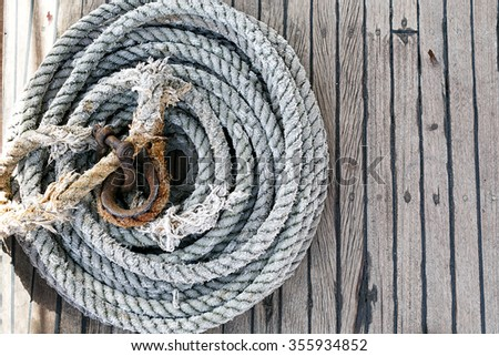 Background texture of coiled marine or nautical rope