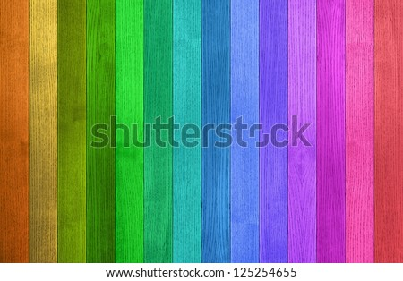 Background texture of colorful wooden fence