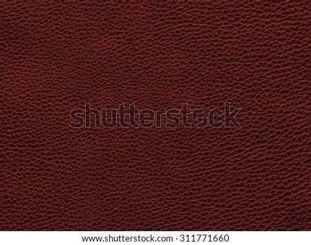 Background - texture of Dark red leather - high resolution