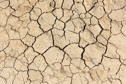 Background, texture of dry cracked soil. Soil drought. Deep cracks. Dried soil. Environmental protection. World Day to Combat Desertification and Drought. Ecology and Nature Conservation.
