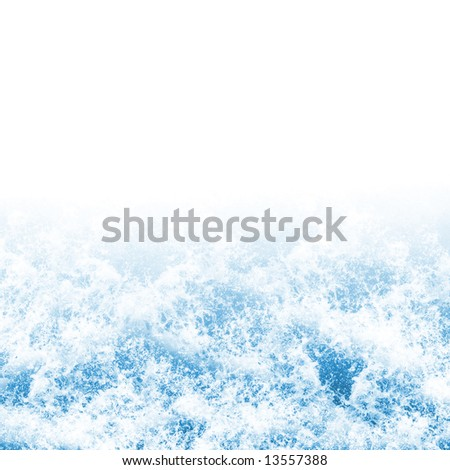 Background texture of foaming ocean waves
