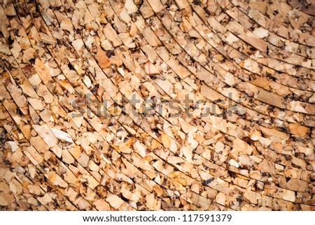 Background texture of natural cork roll - stock photo
