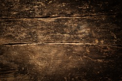 Background texture of old rustic weathered grunge cracked wood with a side vignette