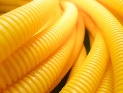 Background texture of Plastic  hose for wire.