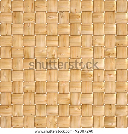 background texture of woven wood with natural patterns